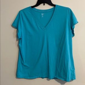 Women's gap short sleeve shirt 2X blue